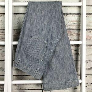 Chico's Jeans Railroad Stripe Flare Bootcut Leg